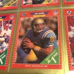 NFL 1989 PRO SET TROY AIKMAN ROOKIE CARD #490 NM